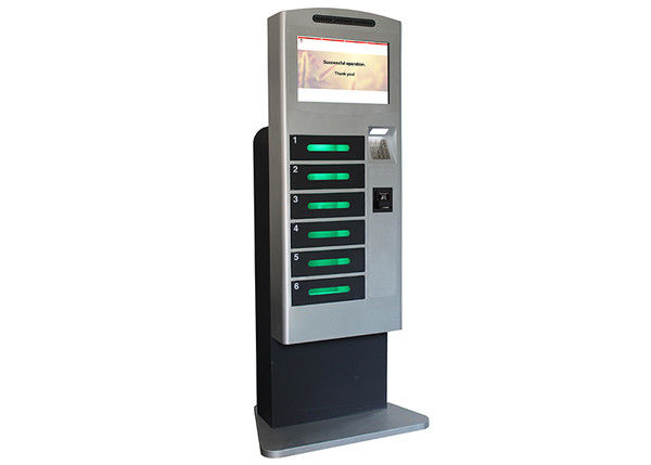 Public Mobile Cell Phone Charging Station Kiosk Banknote Operated with LED Light Inside Lockers