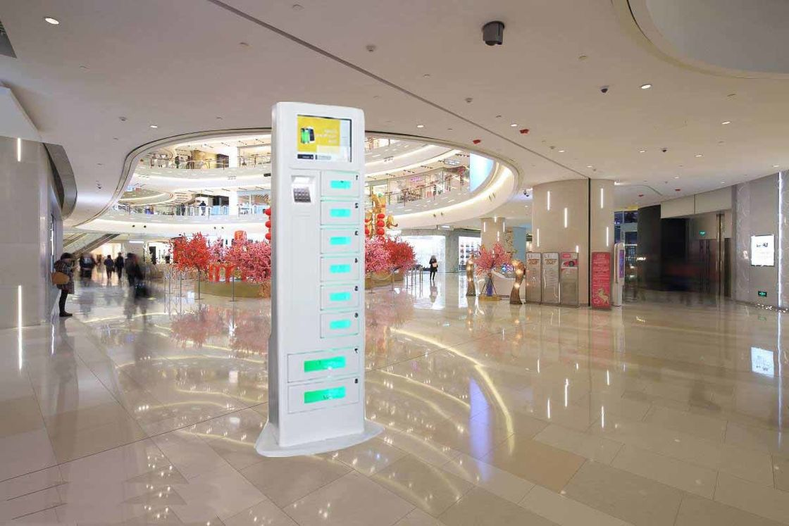 Floor Standing Mobile Phone Cell Phone Charging Stations With Remote Platform And Differnt Payment Devices