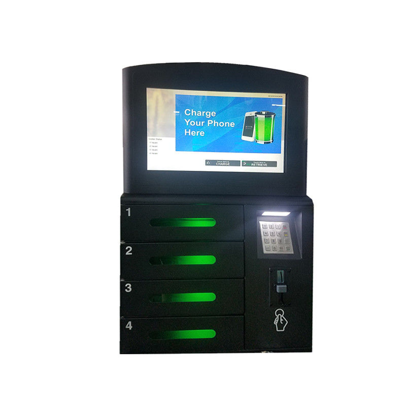 Touch Cell Phone Charging Stations With LCD Advertising Player For Restaurant